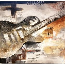 Abstracte gitaar breedte x hoogte in cm: 100 x 100 (11)
