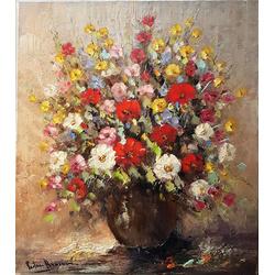 Stilleven bloemen van P. Brouwer breedte x hoogte in cm: 60 x 80 (14)