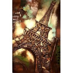 3D Eiffel toren  met metaal breedte x hoogte in cm: 80 x 120 (17)
