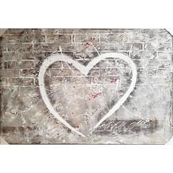 Grijs hart breedte x hoogte in cm: 150 x 100