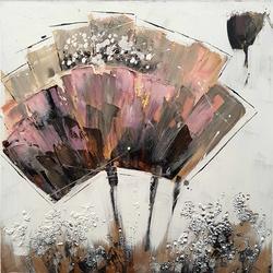 Abstracte bloem breedte x hoogte in cm: 80 x 80 (04)