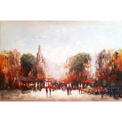 Markt in de stad breedte x hoogte in cm: 120 x 80 (63)