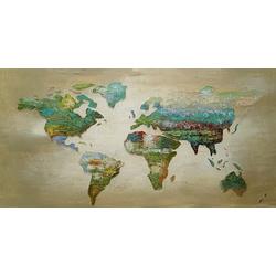 Abstracte wereld breedte x hoogte in cm: 140 x 70 (113)