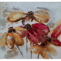 4 Bloemen breedte x hoogte in cm: 60 x 60 (92)