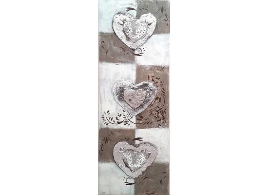 3 zilveren harten breedte x hoogte in cm: 40 x 120 (05)