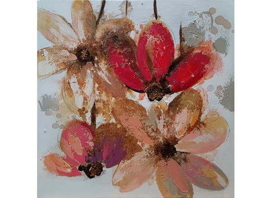 4 Bloemen breedte x hoogte in cm: 60 x 60 (85)